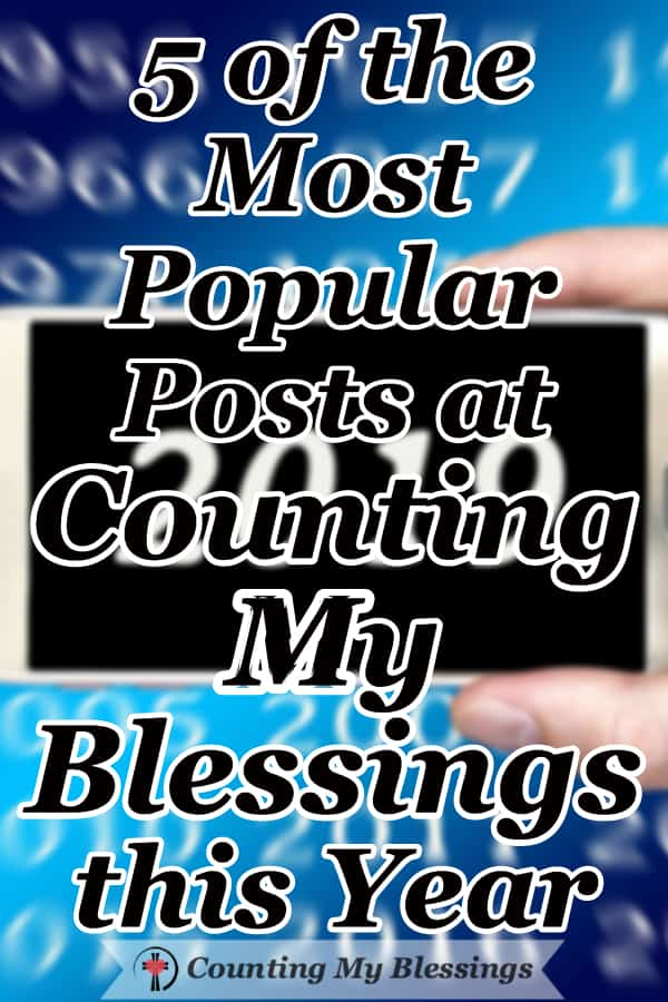 A countdown of the most popular posts in 2019. Those most often visited and shared and #1 has been viewed more than 600,000 times this year alone. #PopularPosts #CountingMyBlessings #Blogging #ChristianBloggers #NewYear