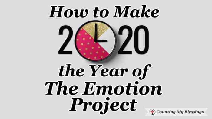 Looking at the best ways to manage our feelings and emotions and those expressed by others ... making 2020 the Year of The Emotion Project #TheEmotionProject #WWGGG #SeekGod'sWill #CountingMyBlessings #EmotionalHealth #Well-being #MentalHealth