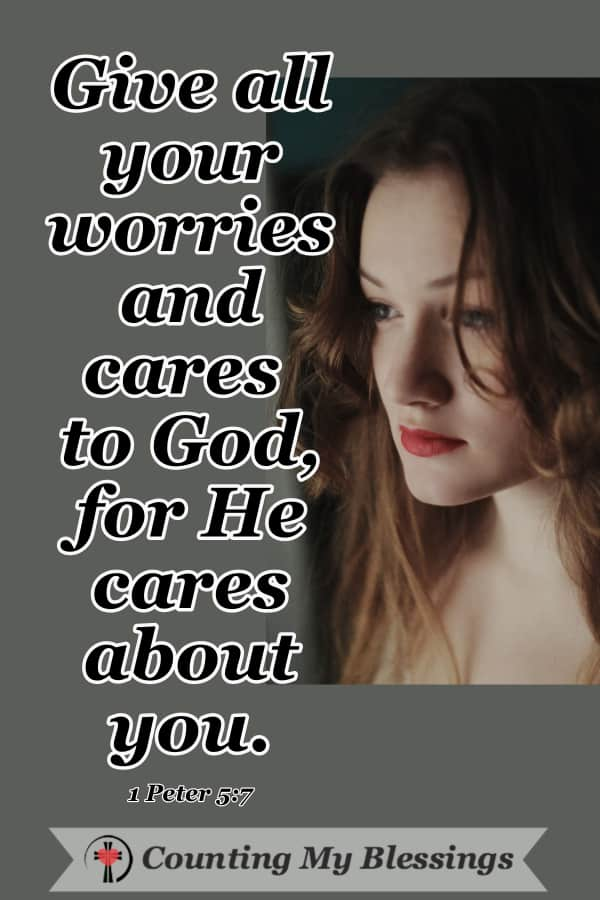 It's a blessing God has given us that we can take our worries and cares to Him in prayer and live free of anxiety ... He even gives us the words in Scripture. #Prayer #VersestoPray #DoNotFear #WWGGG #CountingMyBlessings #GodisLove #Hope