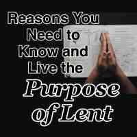 Reasons You Need to Know and Live the Purpose of Lent