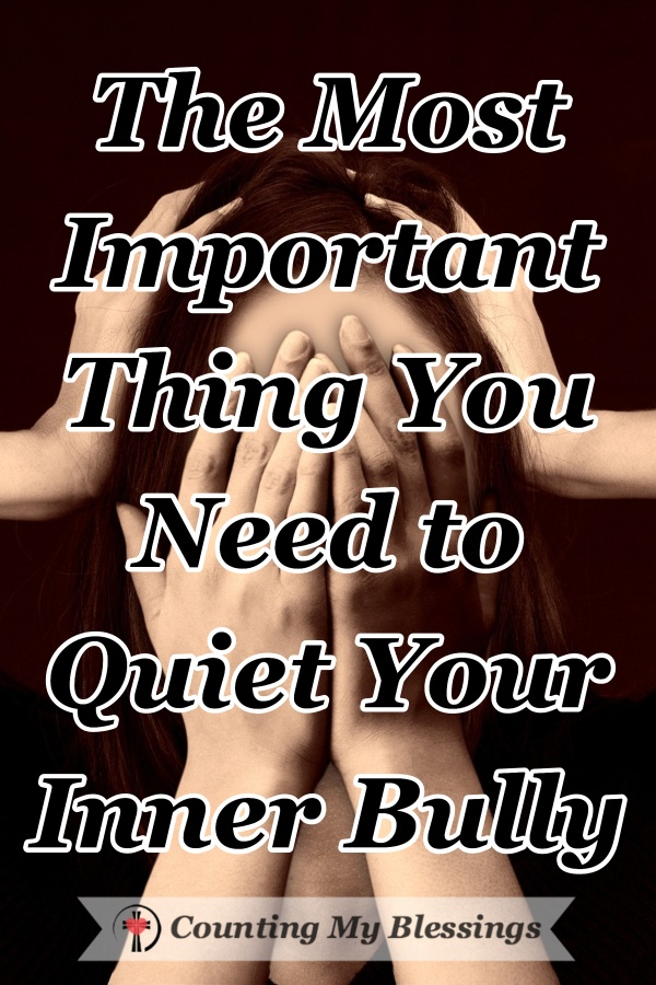 Everyone talks to themselves. What does your inner voice say to you? Is it your friend or do you need to quiet your inner bully? Good news - there is help. #SelfTalk #Innerbully #MeanPeople #CountingMyBlessings #WWGGG #BlessingBloggers