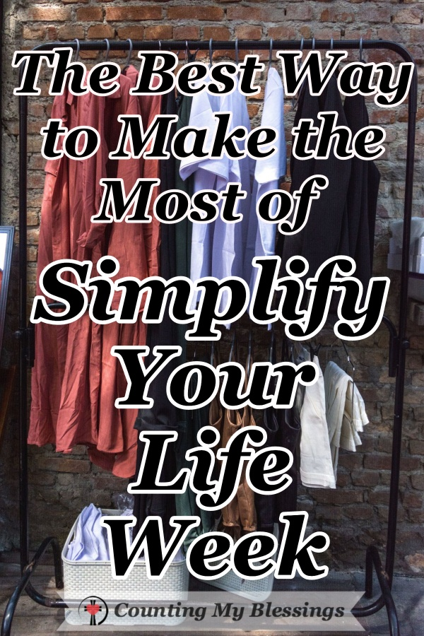 It's Simplify Your Life Week - the perfect time to eliminate the emotional just that weighs you down and keeps you from living the life God wants for you. #Simplify #EmotionalHealth #BestLife #Faith #CountingMyBlessings #WWGGG #BlessingBloggers
