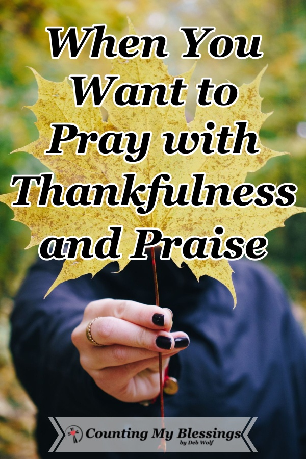 Do you want to pray and live with thankfulness and praise even when busyness and frustrations get in the way and distract you? This will help you. #Prayer #Thanksgiving #Gratitude #CountingMyBlessings #WWGGG