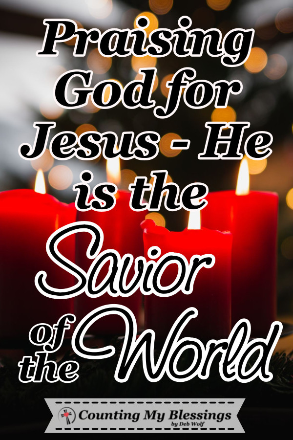 Verses and prayers that thank God for Jesus, the Savior of the World. The One who is the Lamb of God, who saves and delivers all who come to Him in faith. #Prayers #Christmas #Advent #Faith #Jesus #HopeoftheWorld #CountingMyBlessings #WWGGG