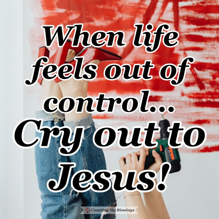 When life feels out of control there is only one way to truly have peace each day, and that is to put your faith in Jesus, the One who is always in control. #Faith #TrustJesus #Peace #Control #CountingMyBlessings #BlessingsBloggers #WWGGG