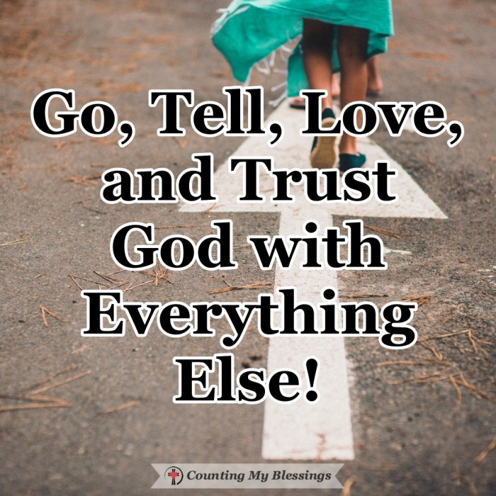 Faith is a gift from God given by the power of the Holy Spirit. You and I are simply called to go, tell, and love, and trust the Lord with the rest.  #Faith #Witness #Tellyourstory #CountingMyBlessings #WWGGG