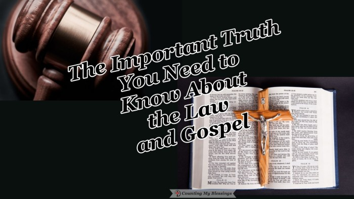 Although it's hard to hear the truth . . . we need both the Law and the Gospel. We need to know we are sinners to understand how much we need Jesus. #LawandGospel #Bible #Jesus #Blessings