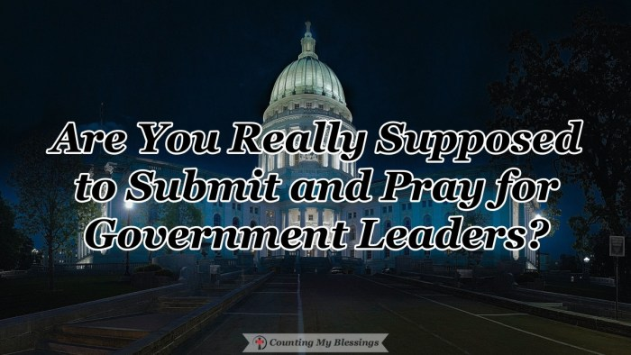What does the Bible mean when it tells us to submit to government leaders or people in authority? Are we really supposed to simply follow the rules? #Submission #Government #TrustGod #Blessings