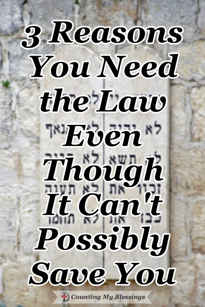 God makes it clear that keeping the Law cannot save you only Jesus can do that but the Law is an important guide for life that will bless you.  #Commandments #BibleStudy #theLaw #Blessings