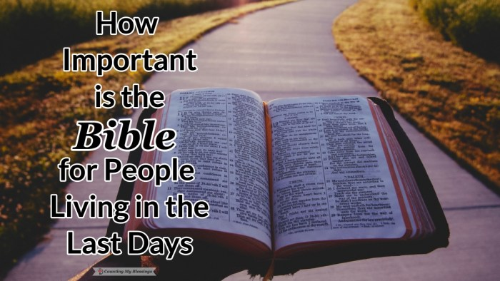Do you believe the world is going to end? If it is, how important do you think it is to know the Bible in the last days? Should it influence how you live? #EndTimes #BibleStudy #Blessings #Faith