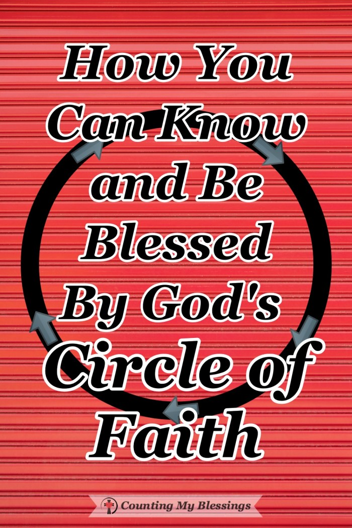 When you and I live within God's Circle of Faith we are blessed by love, forgiveness, grace, mercy, peace, and so much more. #Faith #GodLovesYou #BibleStudy #Blessings