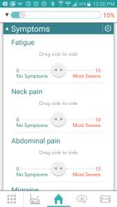 Monitoring all your symptoms with HealthStorylines gut health app