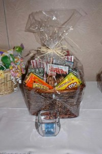 Movie basket complete with movie The Wedding Singer