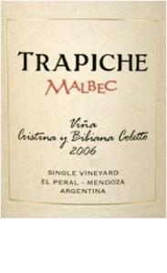 Trapiche Malbec Mendoza Bibiana Coletto 2006