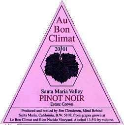 Au Bon Climat for the beautiful taste as well as packaging
