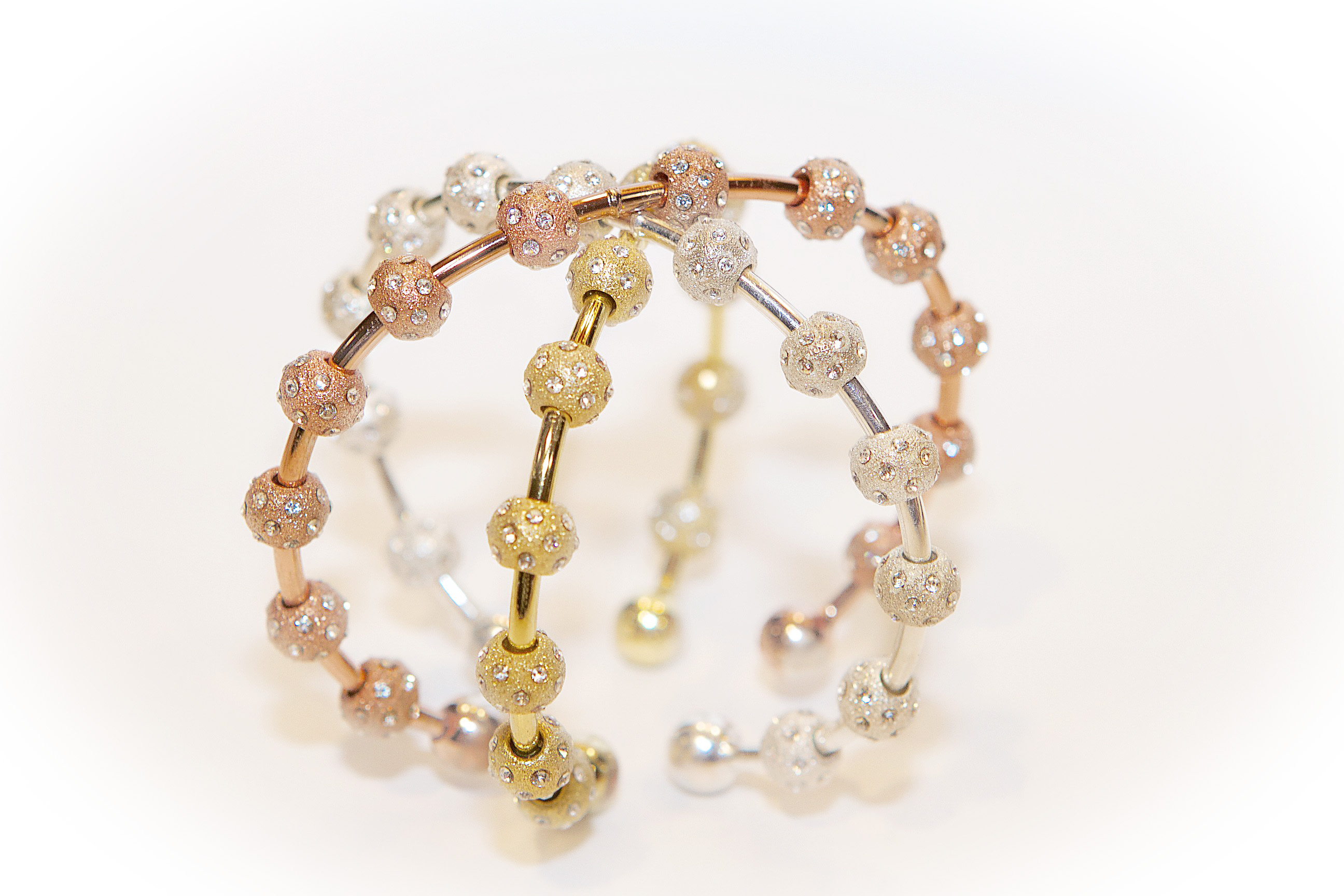 Sexy Stack of New Crystal Journal Bracelets by Chelsea Charles