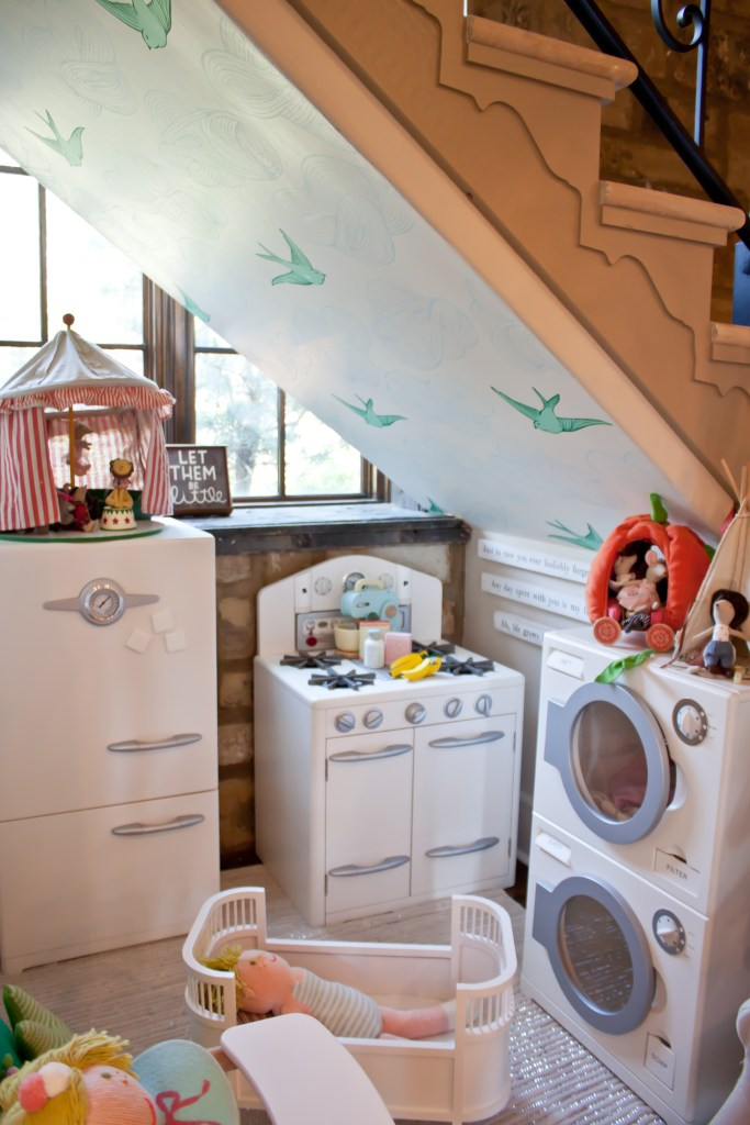 children's kitchen in the home of interior designer Brittany Ragsdale Sugg