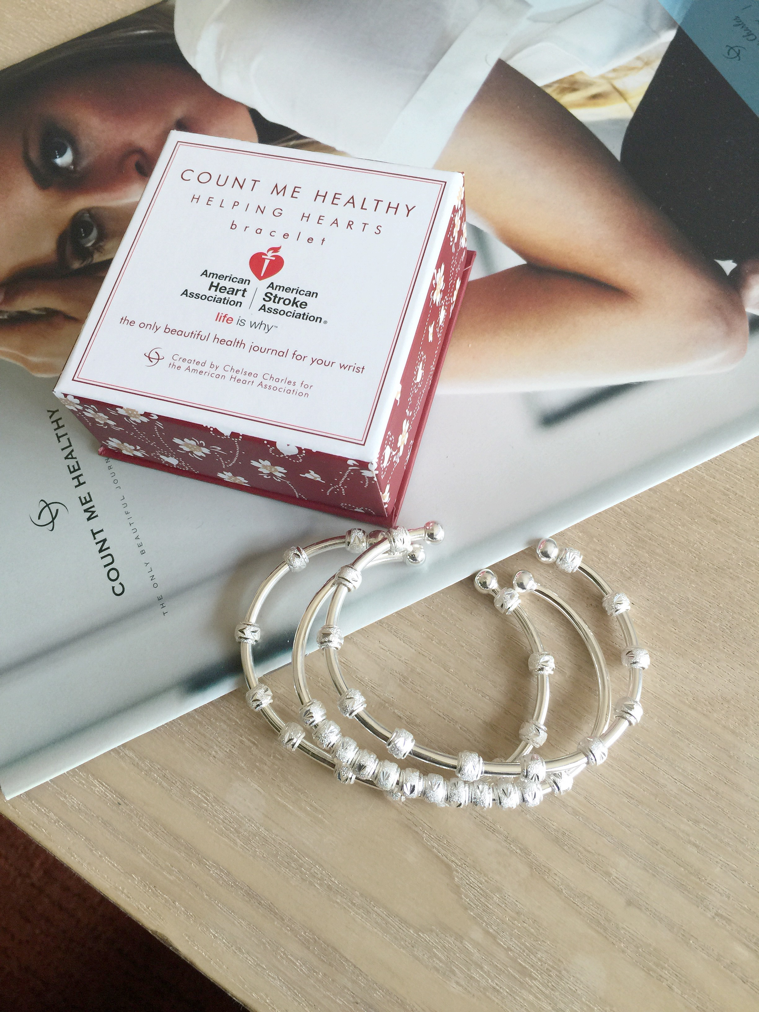 Count Me Healthy Bracelets for The American Heart Association