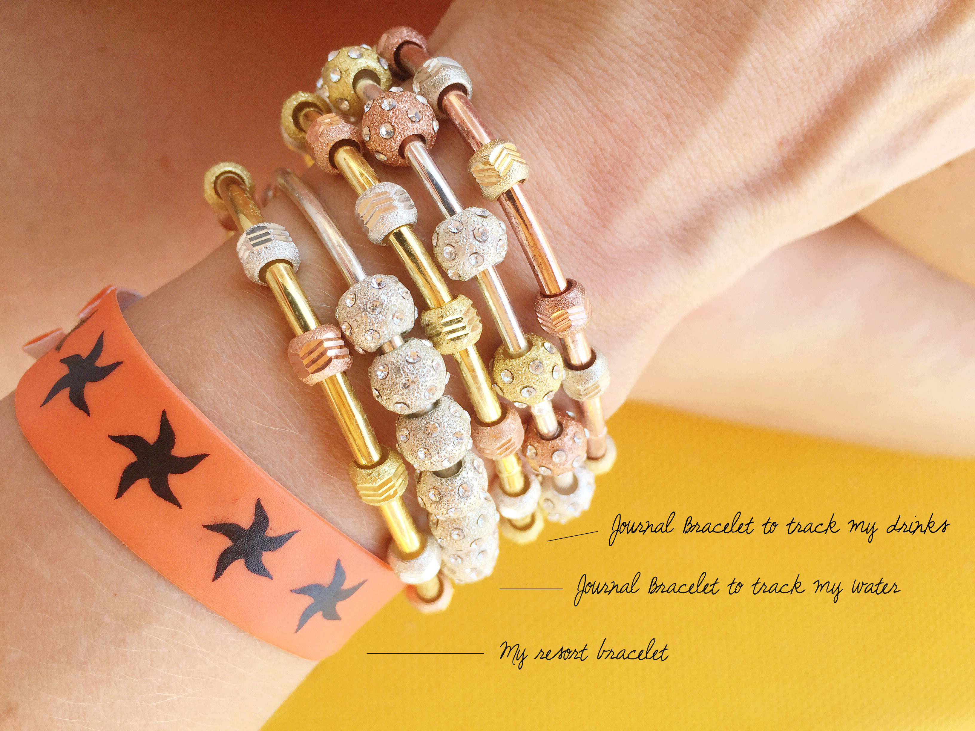 count me healthy bracelets for all-inclusive resort