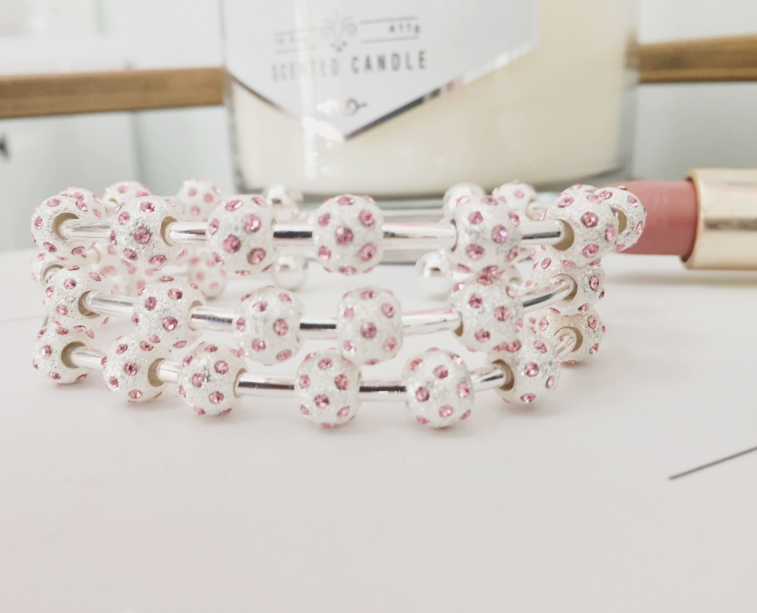 Introducing New Watercolor Crystal Journal Bracelets
