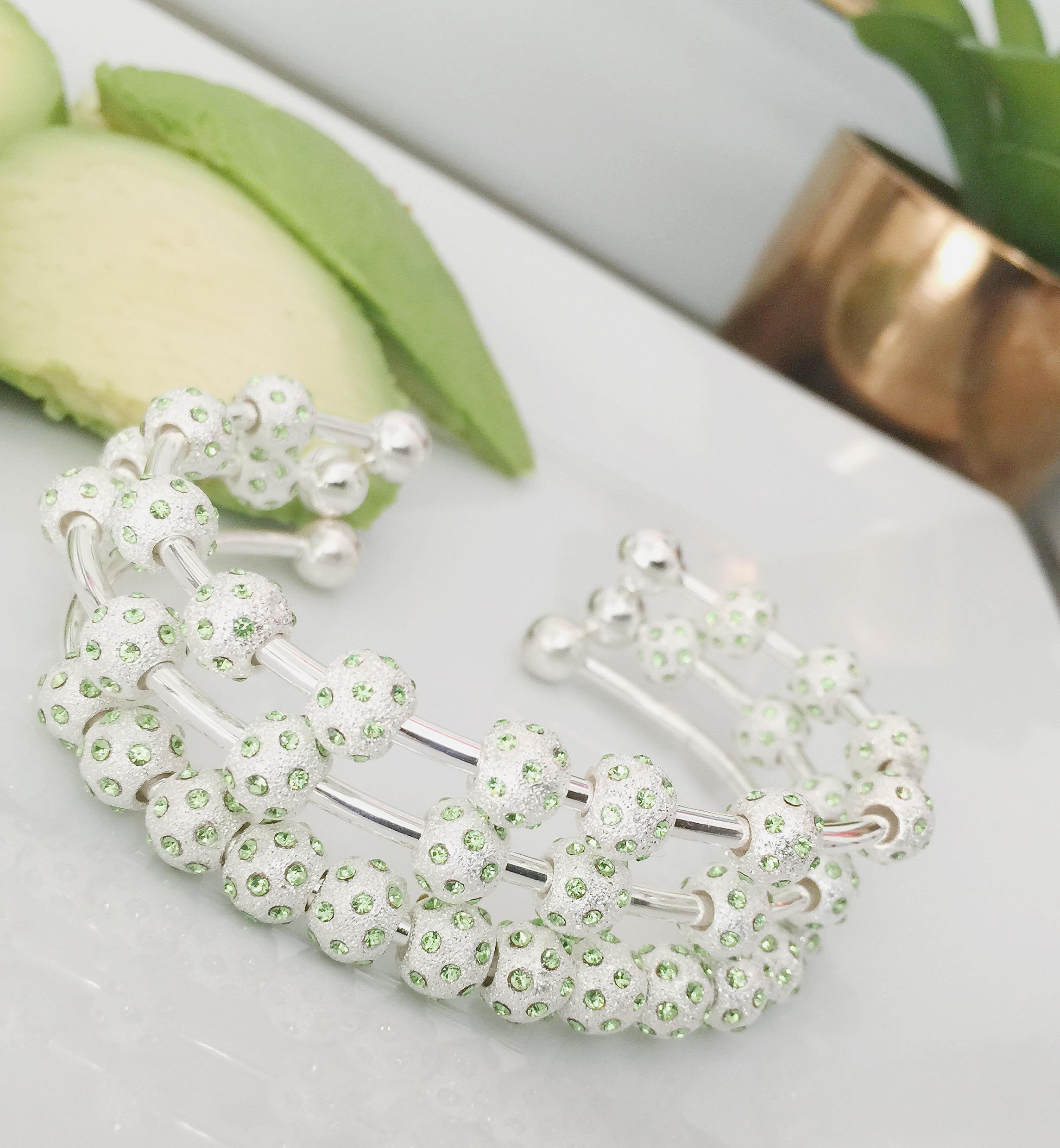 Introducing Watercolor Crystal Journal Bracelets