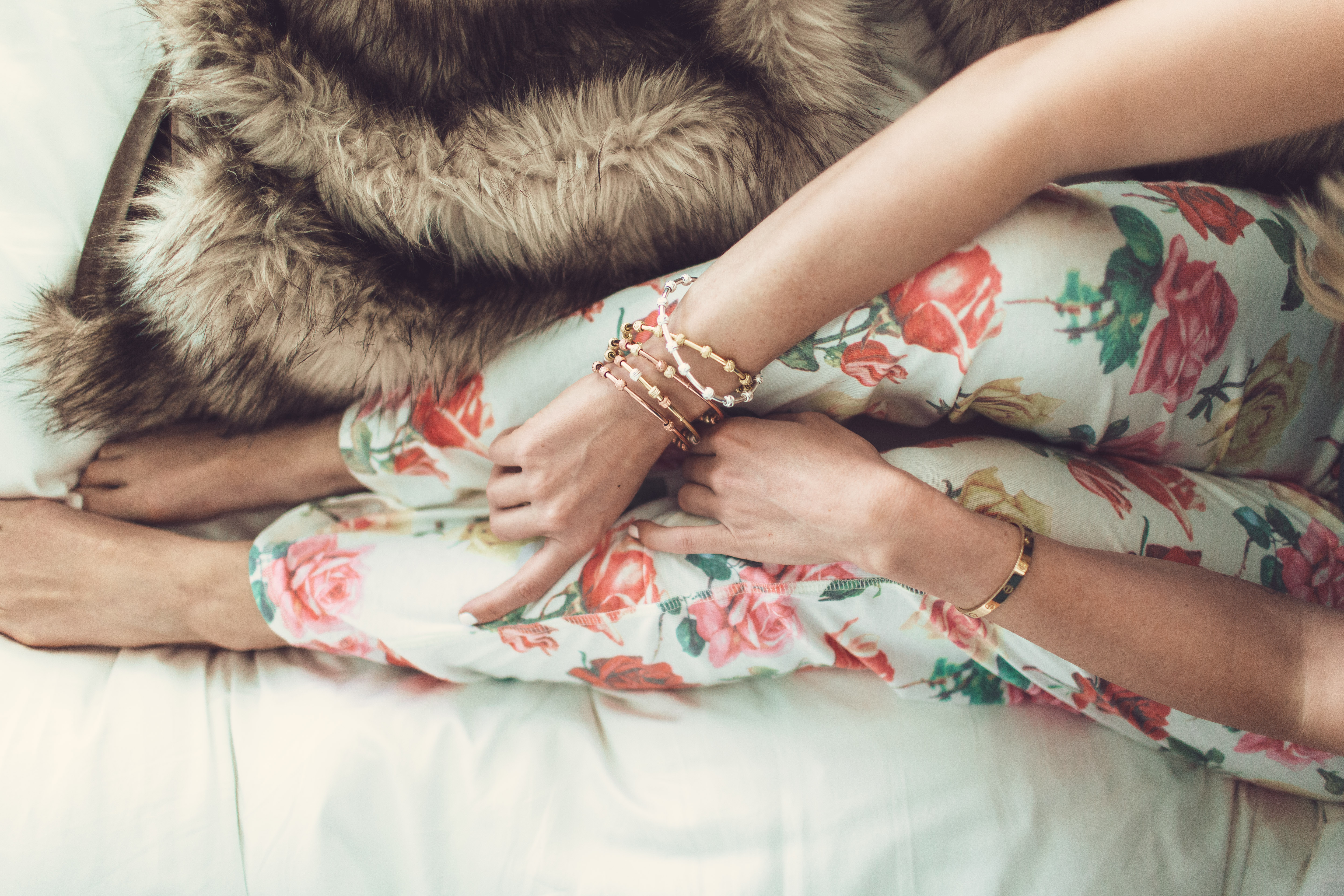 Lauryn Evarts of The Skinny Confidential Wears Count Me Healthy Bracelets by Chelsea Charles