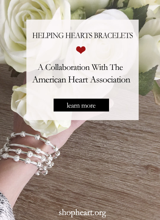 Count Me Healthy Helping Hearts Bracelets for The American Heart Associaton