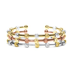 Count Me Healthy by Chelsea Charles Laurel stack of bracelets