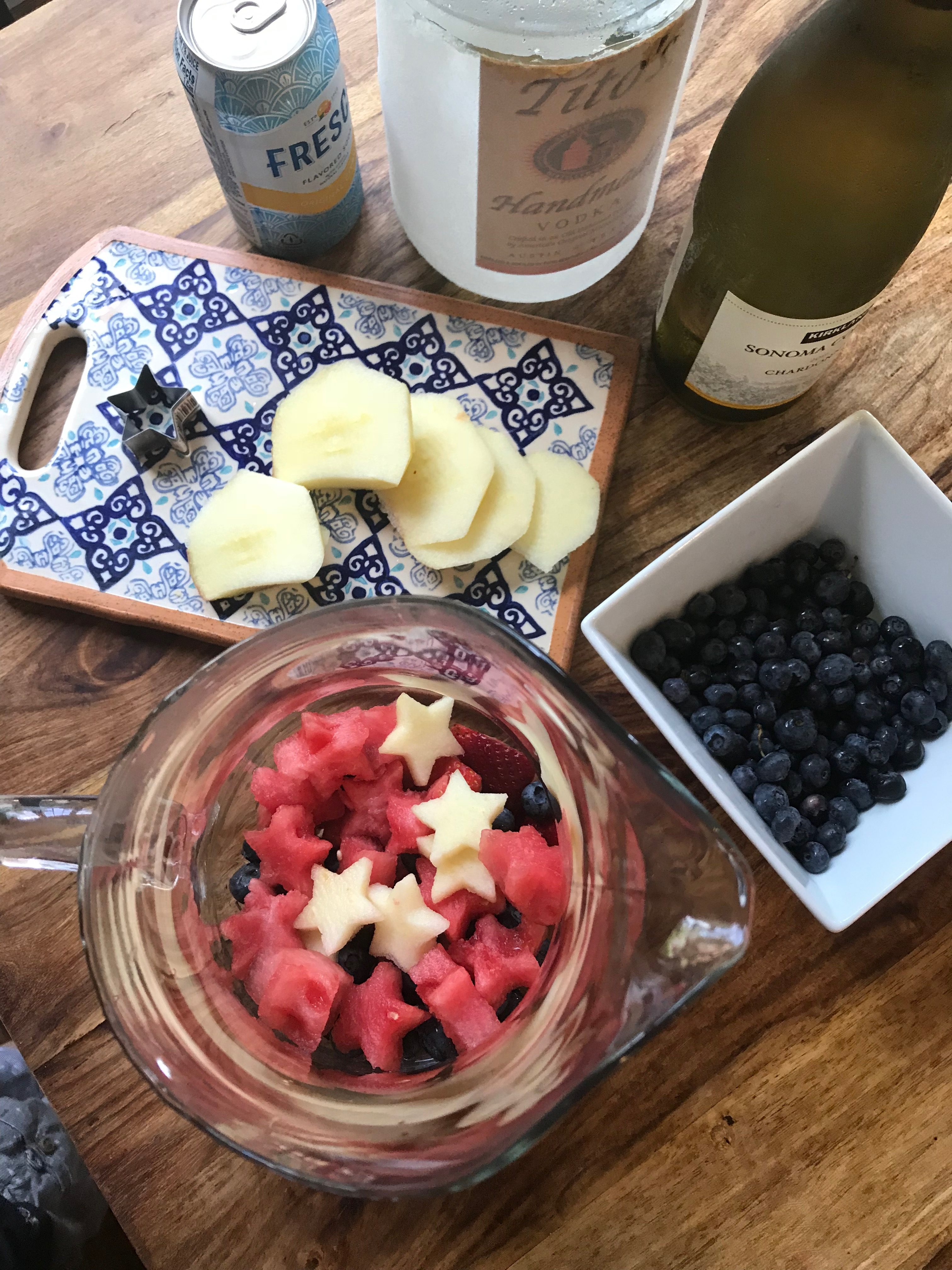 Star Spangled White Sangria for 4th of July