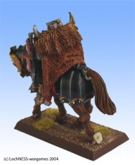 Because of the fur cloaks, the Chaos knights have quite a Nordic look to them