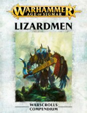 Front image of the Warscroll for Warhammer Armies: Lizardmen