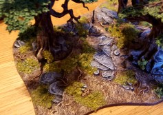 Trees and forest base from the Citadel Forest by Games Workshop