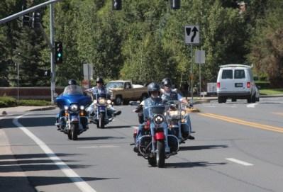 Flagstaff, bikers sur la Route 66