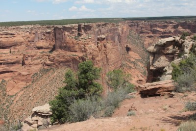 Le Canyon de Chelly vu de la rive Sud