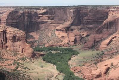 Le canyon suit mes méandres du Chinle Wash