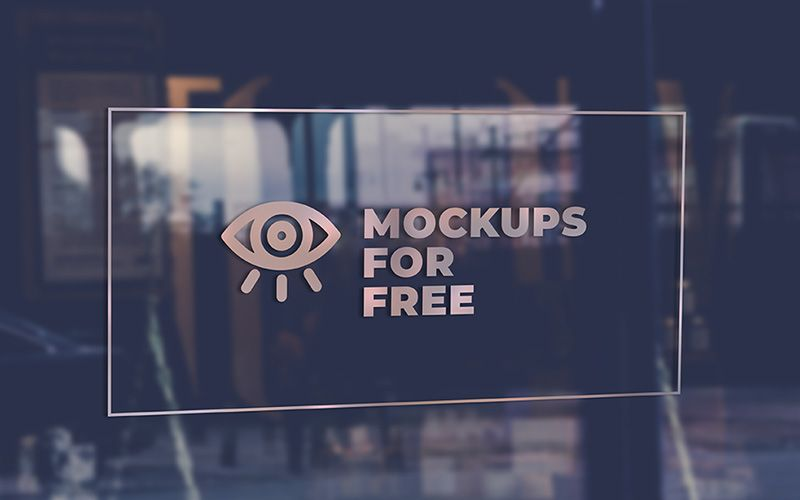 Download Logo Mockup Glass Wall Yellowimages