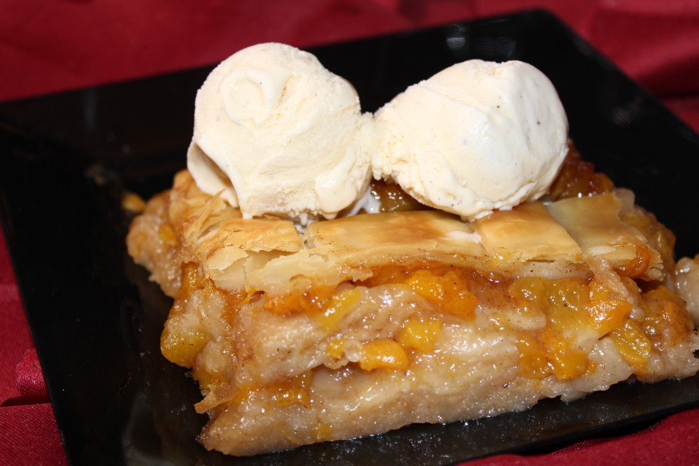 peach cobbler a la mode Countryboy Catering