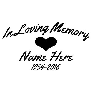 memory cross template - in loving memory decal 0101 heart country boy customs