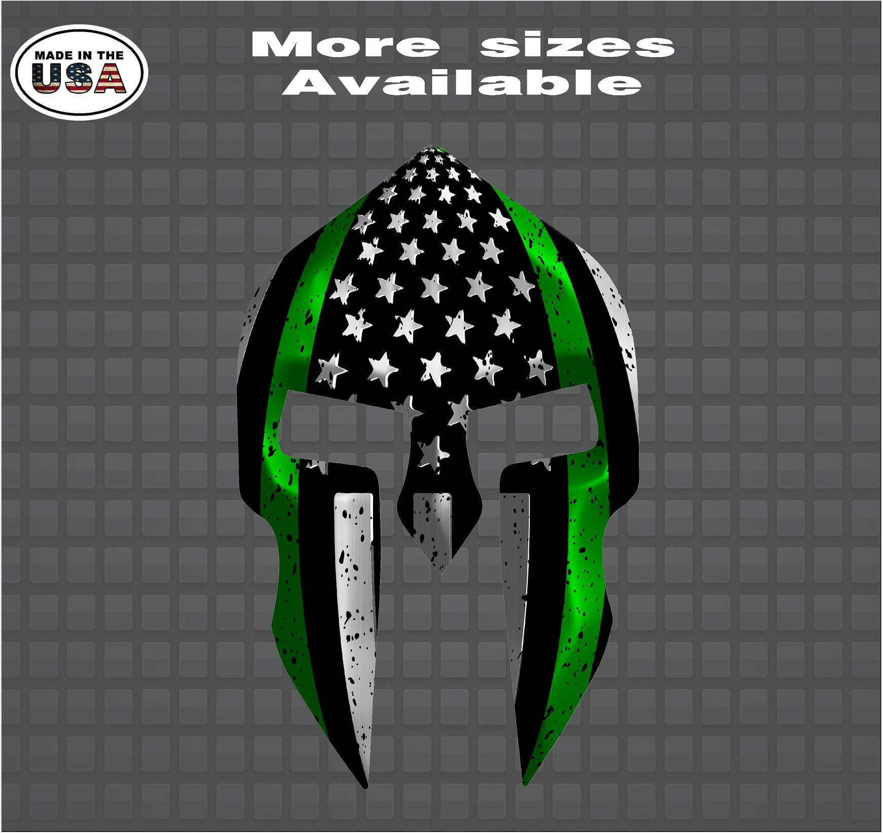 THIN GREEN LINE AMERICAN FLAG ARMY Decal Sticker 5x3 OUTDOOR CAR TRUCK MOTORCYCL