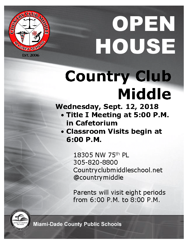 CCMS Open House Flyer 2018