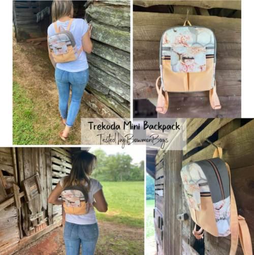 Boxy Top Trekoda Mini Backpack Made by Bowman Bags