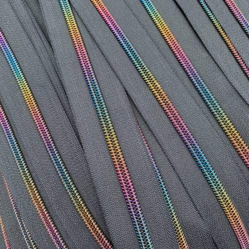 Navy Rainbow Zip Tape