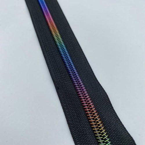 Rainbow Black Zip
