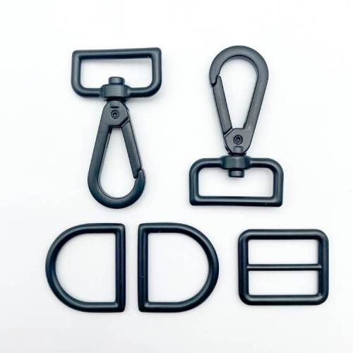 "Matte Black 1"" Crossbody Strap Hardware Kit"