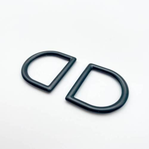 """Matte Black 1"""" D-Rings"""