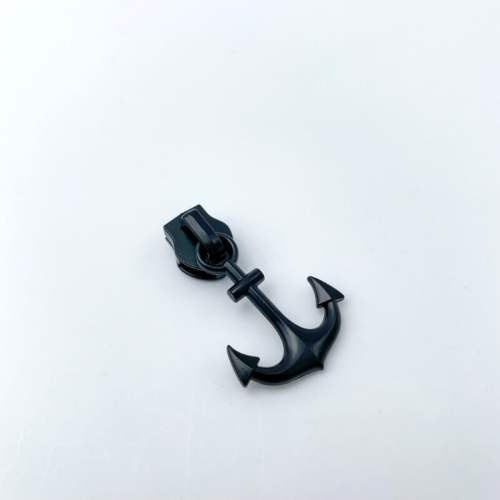 Anchor Zip Pulls Black