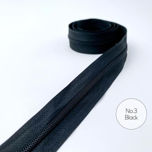 No.3 Black Zipper Tape