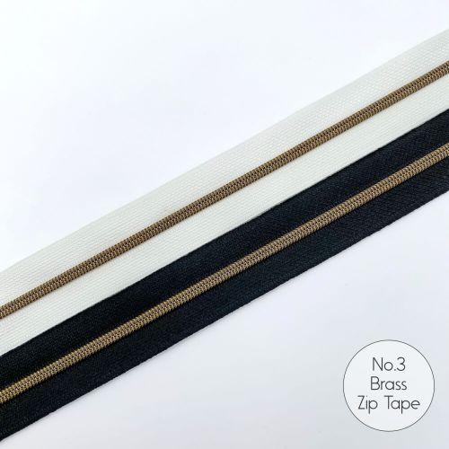 No.3 Brass Zipper Tapes