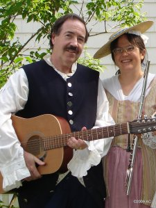Bill Campbell and Julie Sorcek at a Colonial Event at the Keeler Tavern Museum