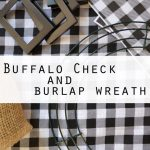 Buffalo Check And Burlap Wreath Country Design Style